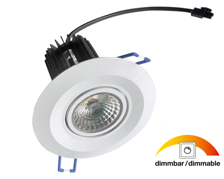 noser cob led downlight dimmbar farbe weiss 10w 600lm 2700 3000 k warmweiss cobdl10 ww. Black Bedroom Furniture Sets. Home Design Ideas
