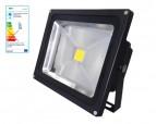 LED-Strahler 1x30W, schwarz, 3000K - warmweiss -  240V, IP65, >2100Lumen